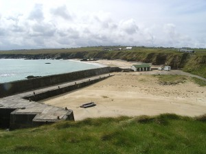 Ness beach and harbour
