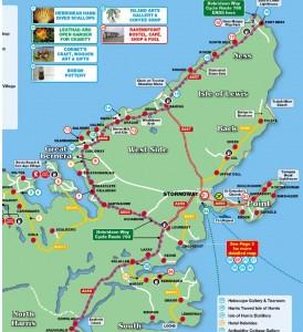 Hebridean Cycle Way Lewis map