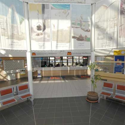 Inside Caledonian MacBrayne offices