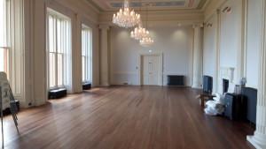 The refurbished main hall